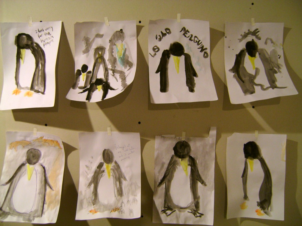 first sad penguin sketches