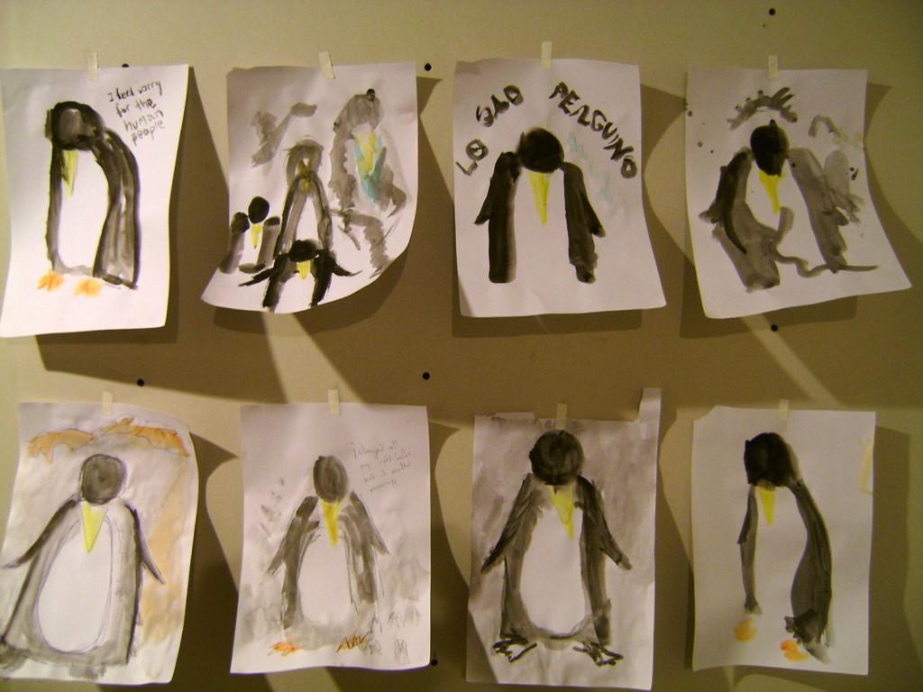 first sad penguin sketches