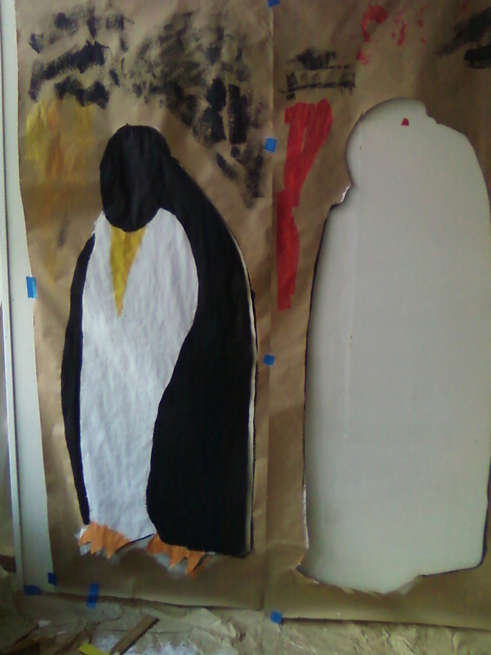 cutting out giant penguins