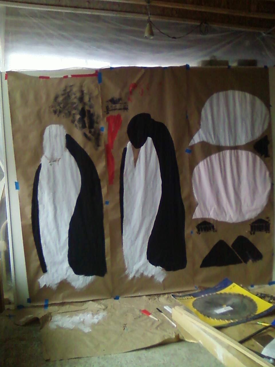 giant penguins in process